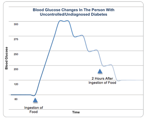 Blood Glucose Changes in the Person with Uncontrolled/Undiagnosed Diabetes
