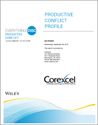 Everything DiSC Productive Conflict Assessment