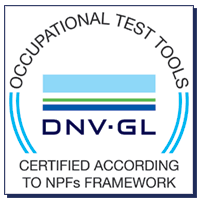 Everything DiSC Workplace© is DNV-GL certified as an occupational test tool according to NPFs framework