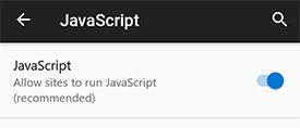 Enable JavaScript Android