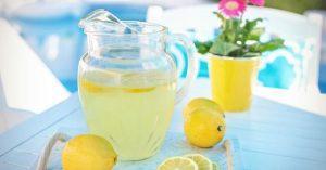 lemonade on a table
